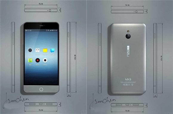 تصاویر Meizu MX3 رونمایی شد