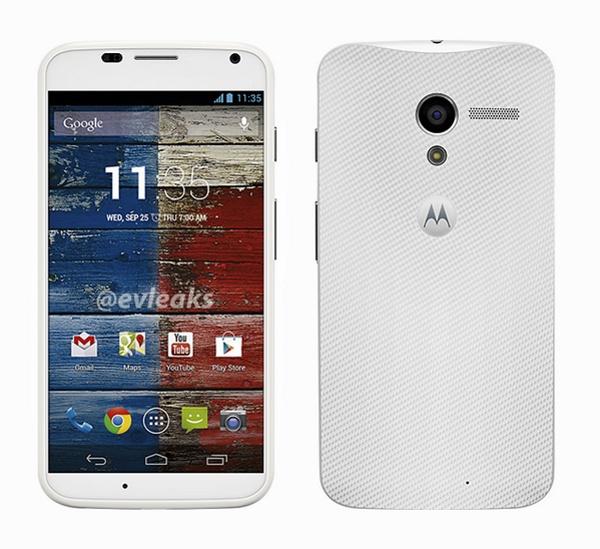 تصویری از نسخه سفید رنگ Motorola X