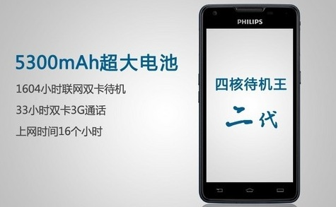 اسمارت فون Philips w6618 با باتری 5300 میلی آمپری!