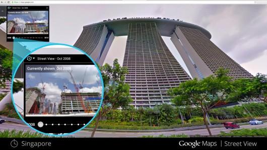 سفر در زمان در Street view هدیه از طرف گوگل به کاربرانش