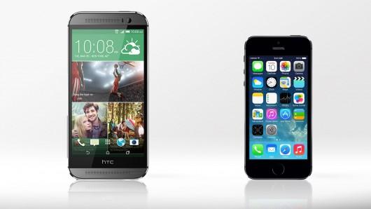 مقایسه کامل htc one m8 و iphone 5s