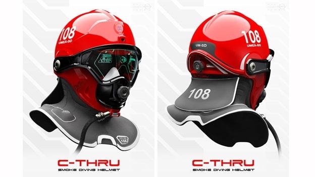 با این کلاه ایمنی ویژه یک آتش نشان ابر انسانی خواهید شد(C-thru)