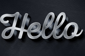 3D Metallic Text Effect - 600