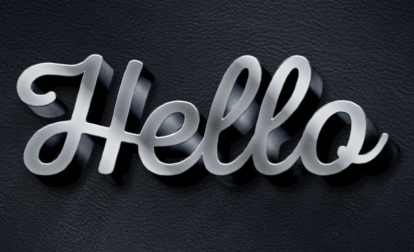 3D Metallic Text Effect - 600